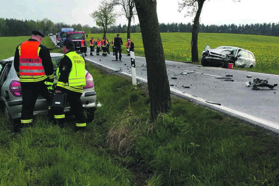 Schwerer Frontal-Crash in Wermsdorf: Die Gründe sind noch unklar.
