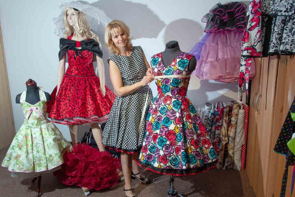 Anke Beger (49) liebt und schneidert Petticoat-Kleider - und macht darin selbst eine gute Figur.