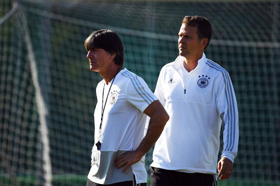 Joachim Löw und Oliver Bierhoff werden von der DFB-Spitze gestärkt.
