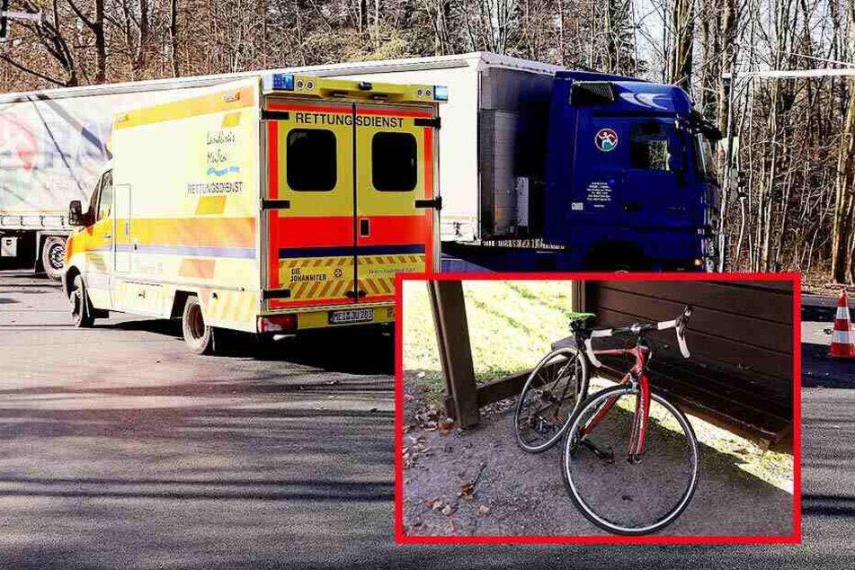 Dresden: Radfahrer bei Unfall mit Sattelzug schwer verletzt