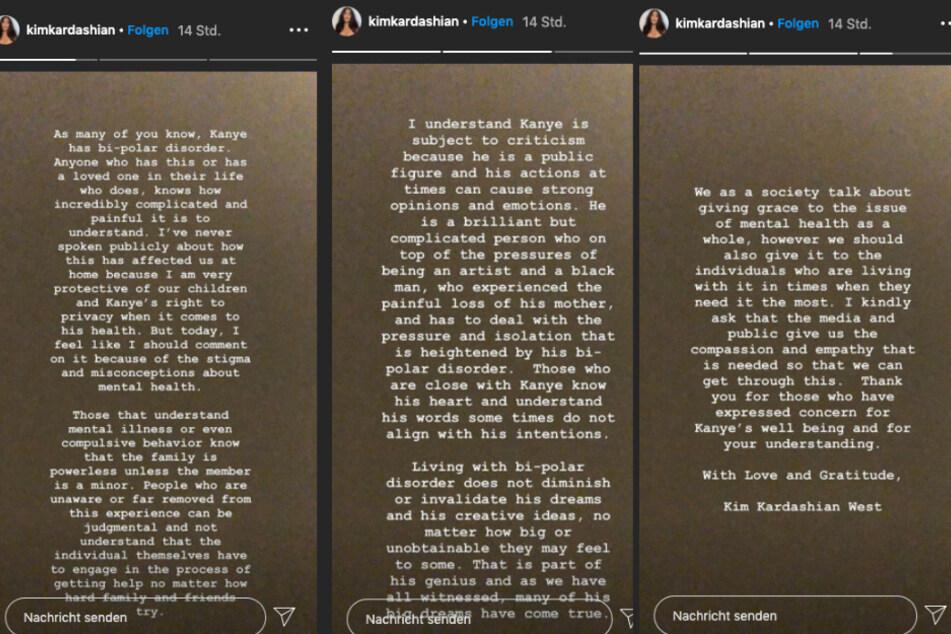 Die Instagram-Story von Kim.