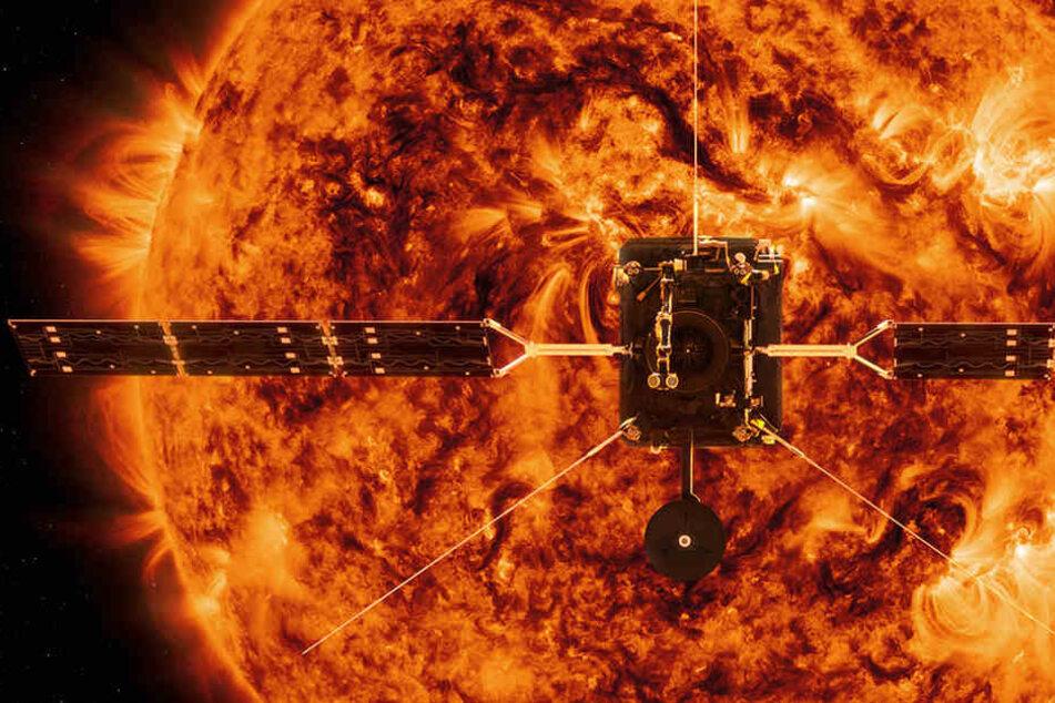 """Ab 2020 soll die ESA-Sonde """"Solar Orbiter"""" neue Daten über die Sonne liefern."""