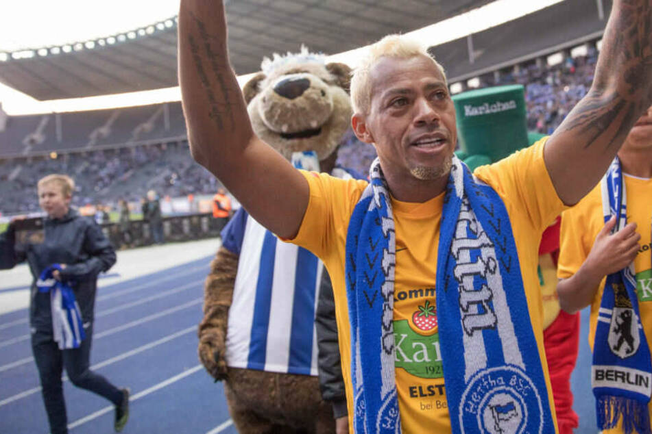 Marcelinho bei seinem Abschiedsspiel im Berliner Olympiastadion.