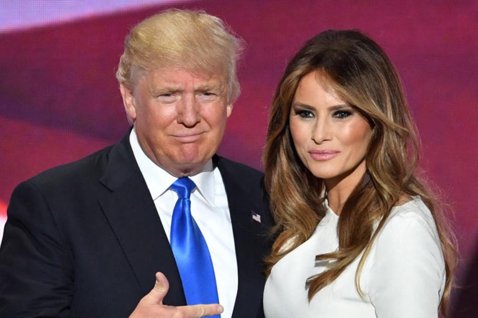 Der neue US-Präsident Donald Trump (70) mit seiner Frau Melania (46).