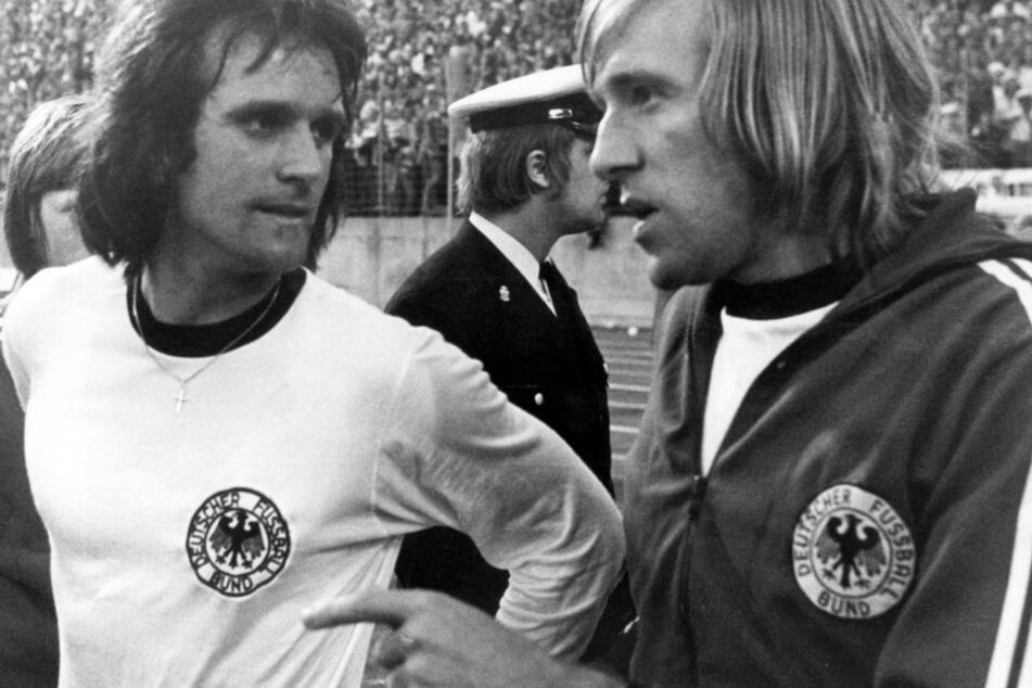 Wolfgang Overath mit Günther Netzer (r.).