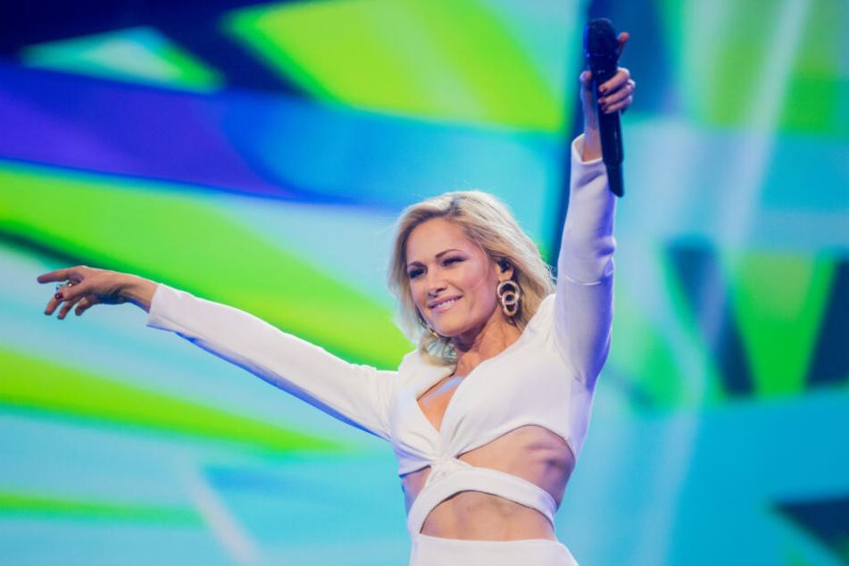 Helene Fischer bei einer Aufzeichnung ihrer großen TV-Show auf der Bühne.