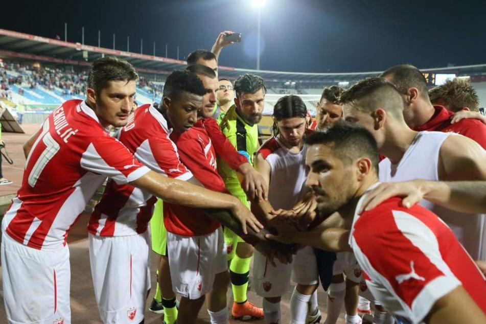Die Spieler bei Roter Stern Belgrad sind eine Einheit. Die Fans stehen bedingungslos hinter ihrem Verein.