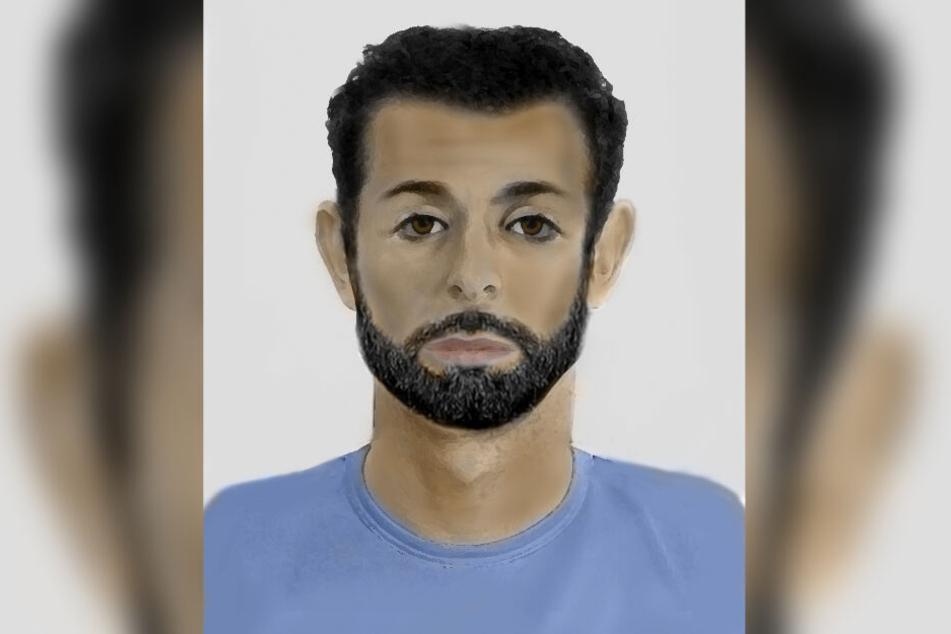 Wer kennt diesen Mann? Mit diesem Phantombild sucht die Polizei nach dem Tatverdächtigen.