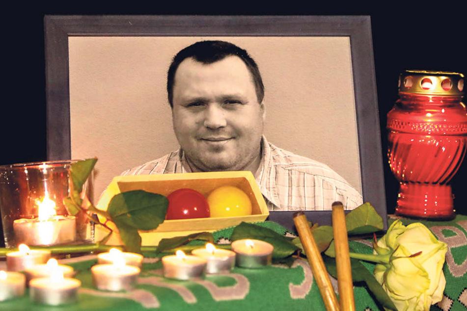 René Quaschnewski (†45) starb nachdem ein Betrunkener ihn mit seinem Roller erfasst hatte.
