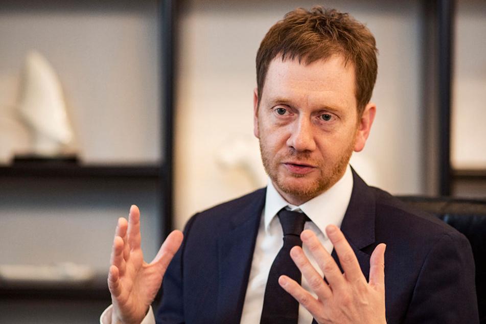 """Ministerpräsident Michael Kretschmer (42, CDU) kommt zum """"Sachsengespräch"""" nach Aue."""