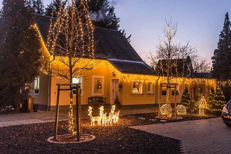 Weihnachtsstimmung im Dresdner Stadtteil Stetzsch.