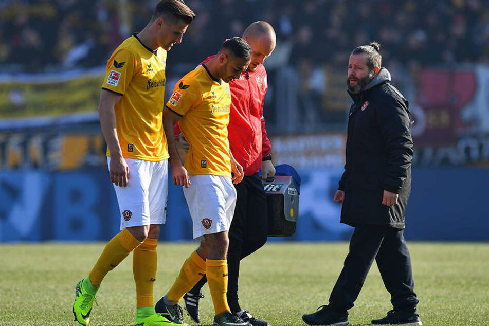 Der Moment als Gogia verletzt vom Platz muss. Beim Spiel am 29.1. gegen Nürnberg zog er sich einen Syndesmosebandeinriss zu.