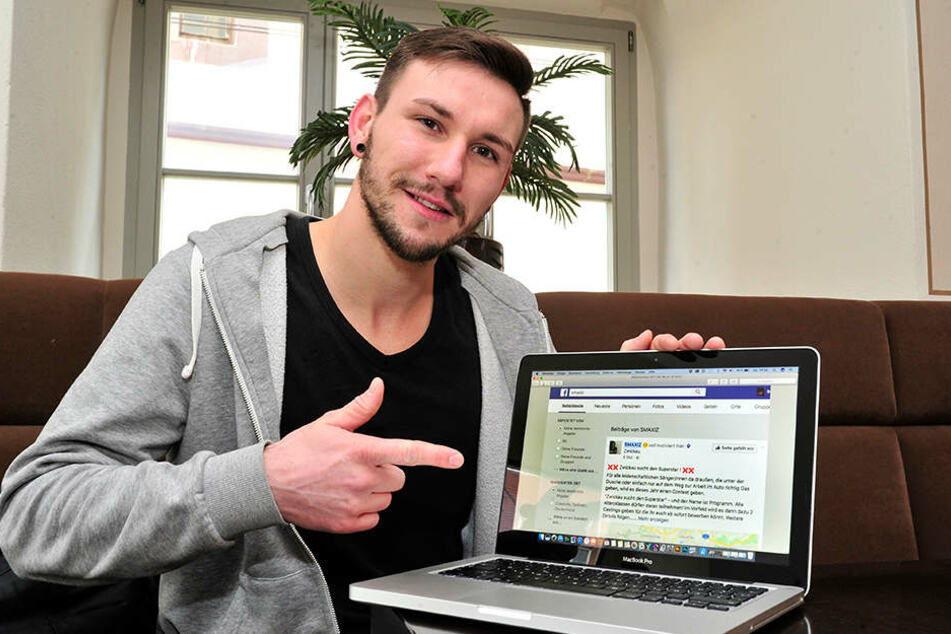 Rapper Smaxiz alias Christopher Kühn (26) plant eine eigene Casting-Show für  Zwickau.