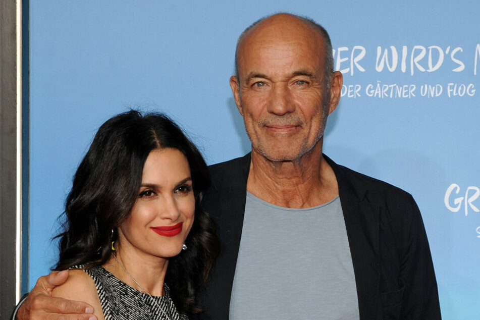 Der Schauspieler Heiner Lauterbach und seine Frau Viktoria.