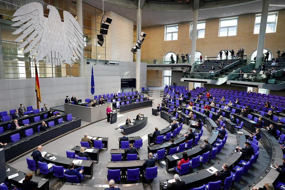 Die Bundeskanzlerin sprach am Donnerstagvormittag vor dem deutschen Bundestag.