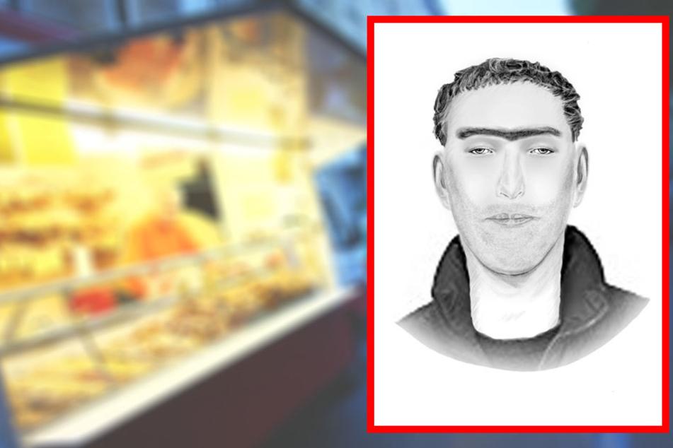 Messer-Mann überfällt Lieferanten: Polizei sucht diesen Mann!