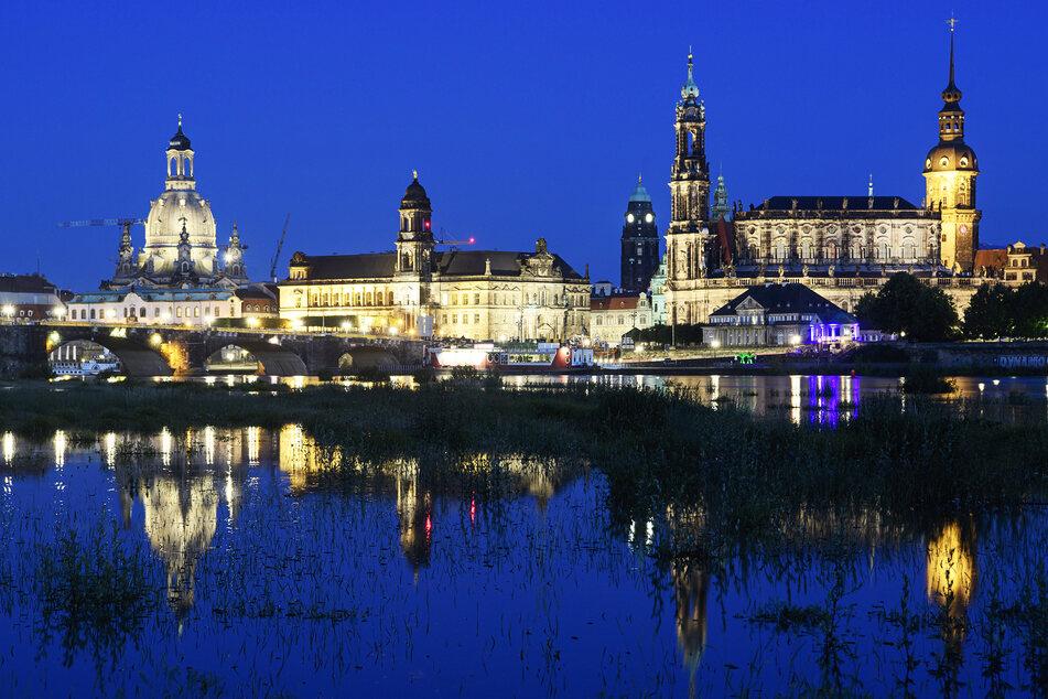 Blick auf die Dresdner Altstadt.