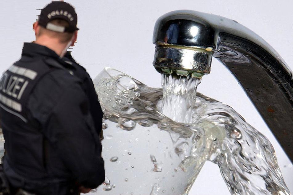 Insgesamt sieben Millionen Liter Wasser ließ er laufen. Als die Polizei kam, wehrte er sich. (Symbolbild)