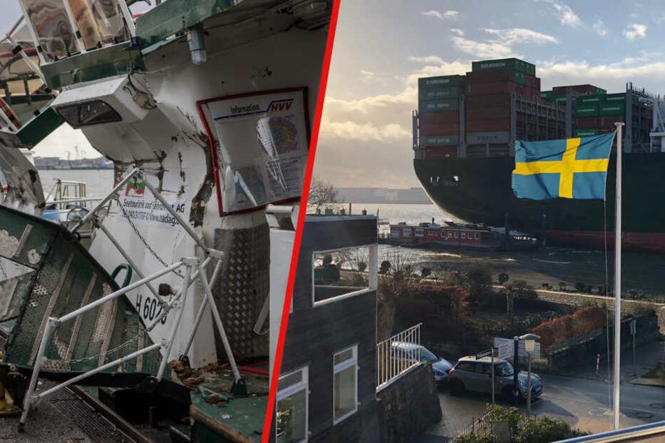 Containerschiff zerquetscht Fähre: Das steckt hinter dem Unfall auf der Elbe!