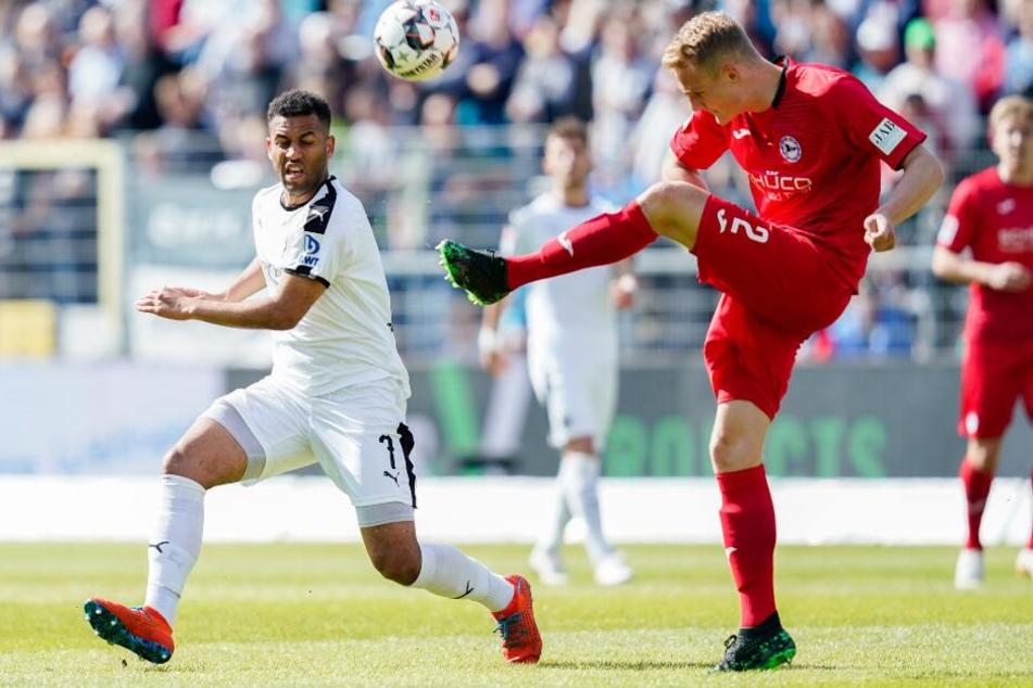 DSC-Verteidiger Amos Pieper ließ gegen den SV Sandhausen nicht viel zu.