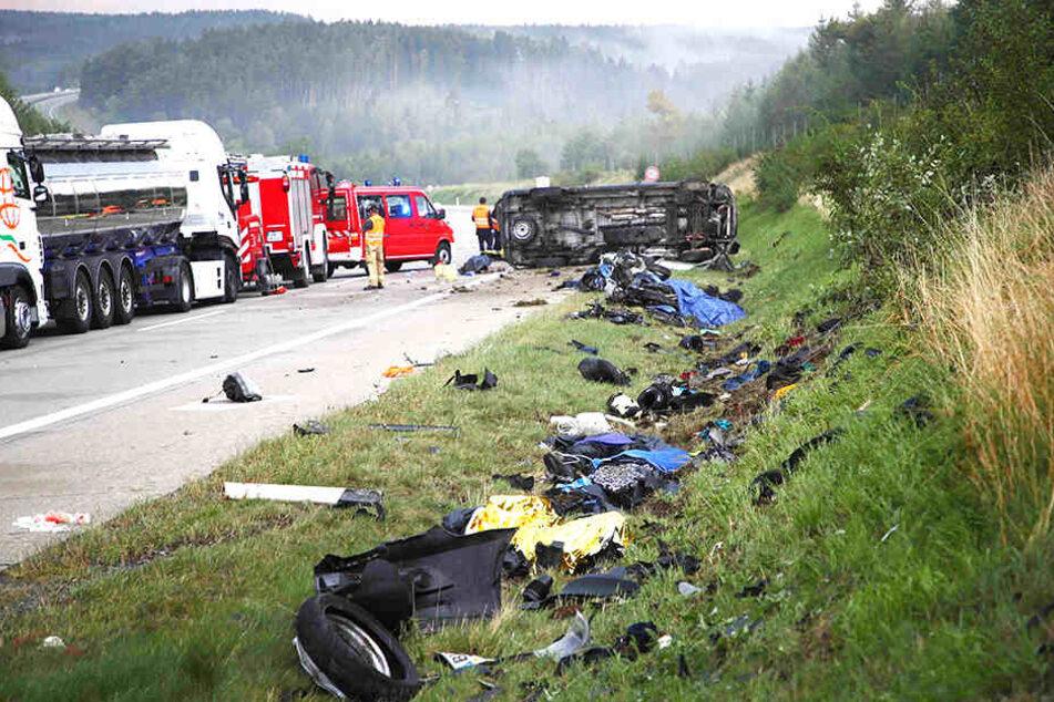 Vier Biker wurden auf der A9 getötet.