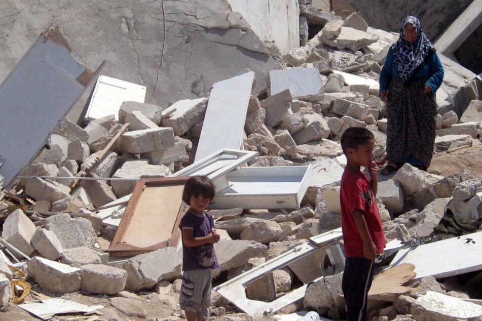 In Syrien sind viele Frauen und Kinder von der externen Versorgung abhängig