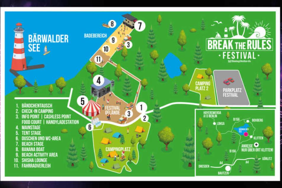 Wo ist was beim BtR-Festival? Hier ist der Plan.