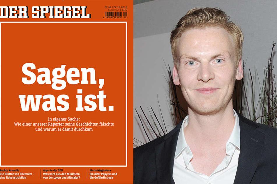 """Das aktuelle Cover des Nachrichtenmagazins """"Der Spiegel"""". Es geht um den Betrugsfall im eigenen Haus um Claas Relotius (re.)"""