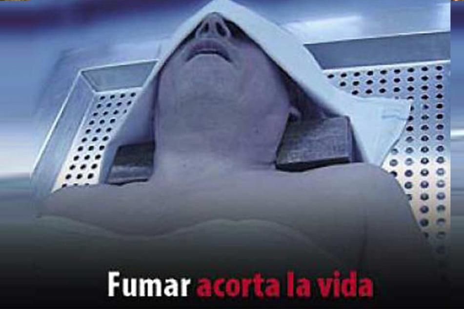 """Seit 2010 """"schmückt"""" dieses Foto die Zigarettenschachteln in Spanien. Angeblich liegt hier Esmeralda Garcias Stiefvater im Leichenschauhaus."""