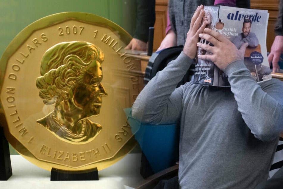 In dem Prozess um den Diebstahl der 100 Kilogramm schweren Goldmünze müssen sich vier Männer verantworten.