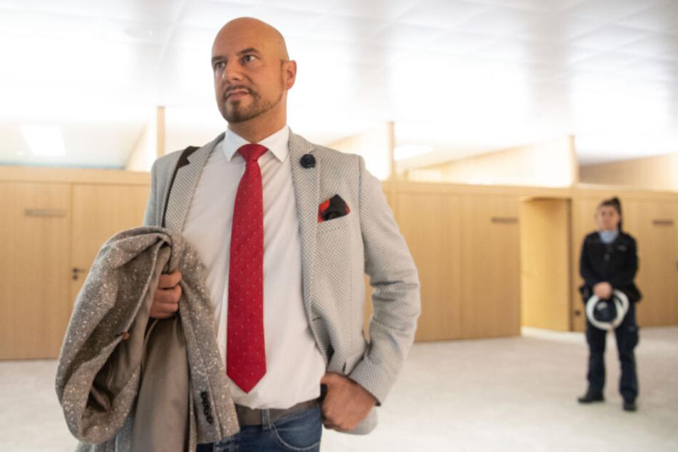 AfD-Politiker Stefan Räpple nach dem Landtagsausschluss im Dezember.