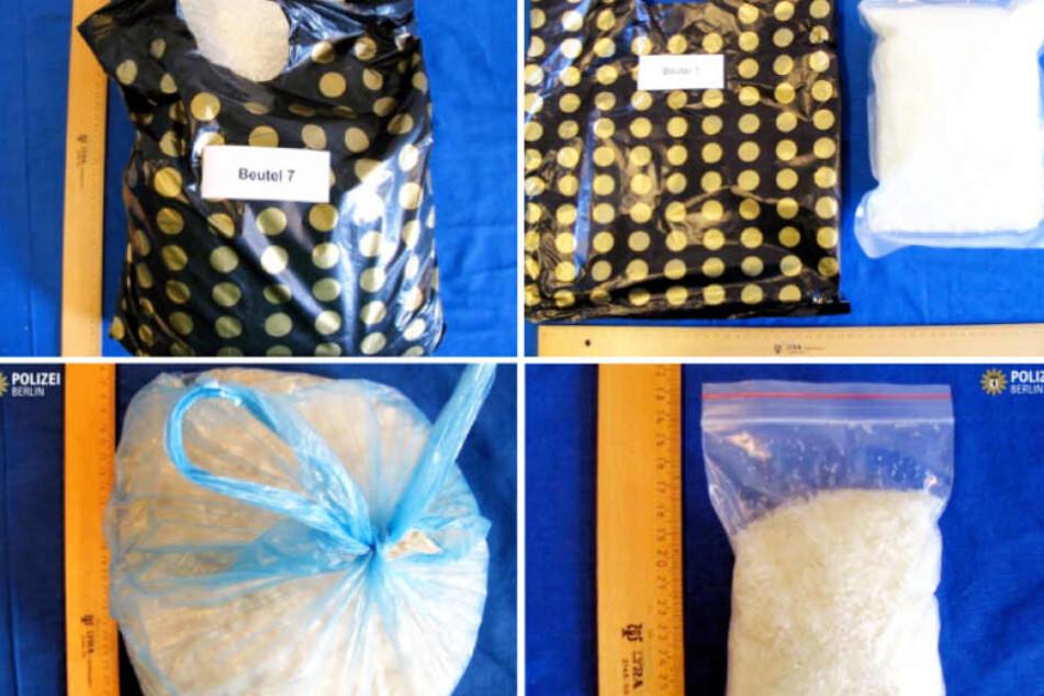 Das von der Berliner Polizei sichergestellte Crystal-Meth hat einen Wert von rund 500.000 Euro.