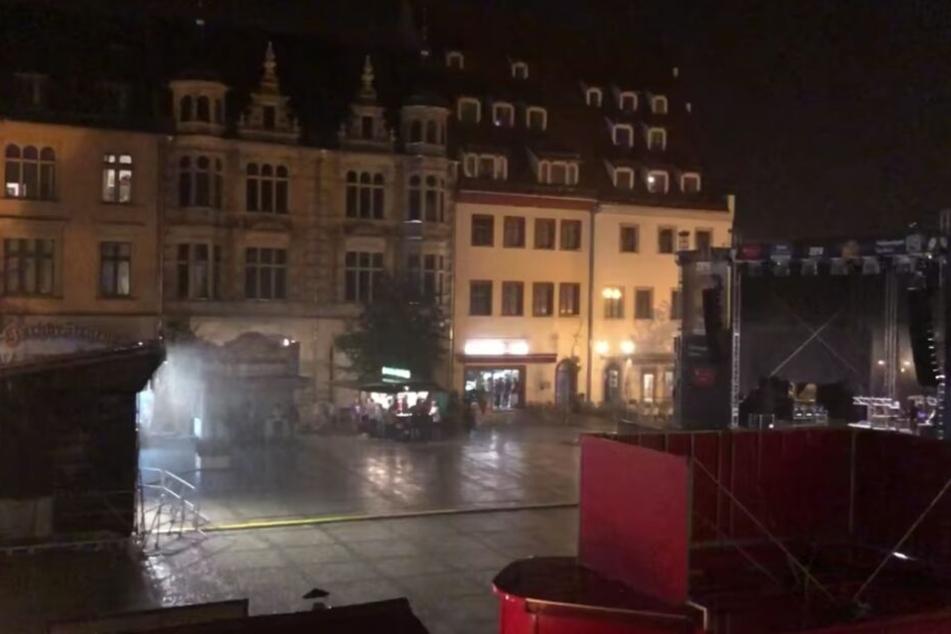 Unwetter toben über Sachsen: Stadtfest abgebrochen