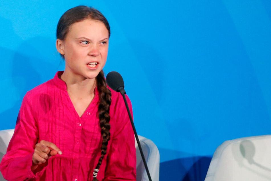 Die Klimaaktivistin Greta Thunberg nimmt am UN-Klimagipfel bei den Vereinten Nationen teil.