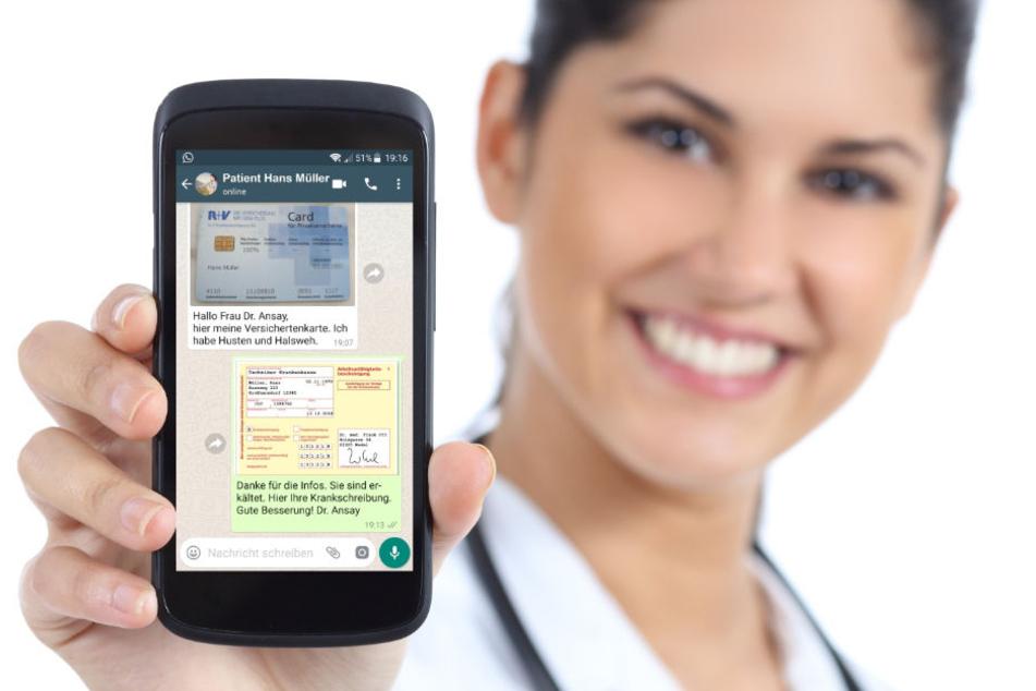 Krankschreibung per WhastApp bietet ein Start-up aus Hamburg an.