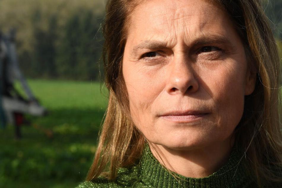 Sarah Wiener, Fernsehköchin und Buchautorin, spricht am Rande einer landwirtschaftlichen Diskussionsveranstaltung.