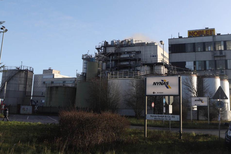In dem betroffenen Bereich befinden sich mehrere Industriebetriebe.