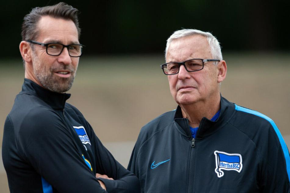 Manager Michael Preetz und Präsident Werner Gegenbauer beim Trainingslager.