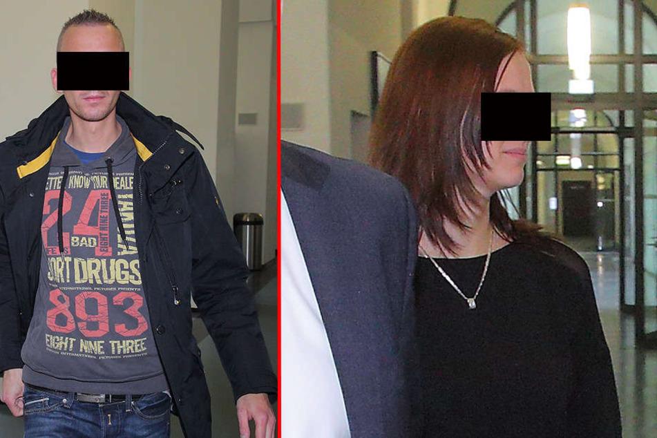 Silvana M. (30,r.) äußert sich nicht im Prozess und auch Kay M. (31) schweigt bei Gericht.