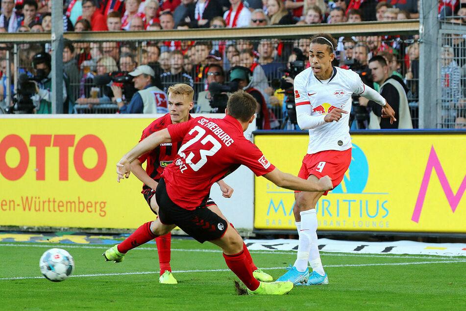 Das Hinspiel im Breisgau verlor RB Leipzig mit 1:2.
