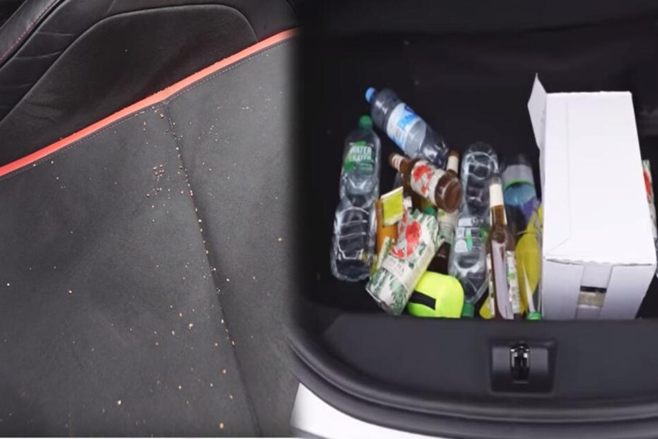 Sesam auf dem Sitzpolster, Getränkechaos im Kofferraum, doch inscope21 liebte seinen Mercedes über alles.
