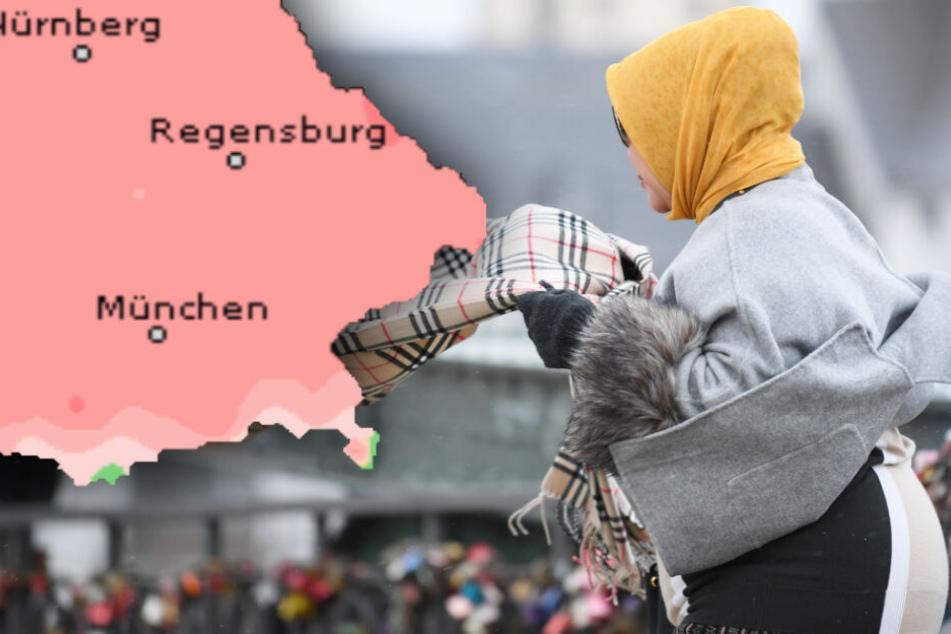 Im Freistaat Bayern kann es am Samstag mitunter zu heftigen Sturmböen kommen.