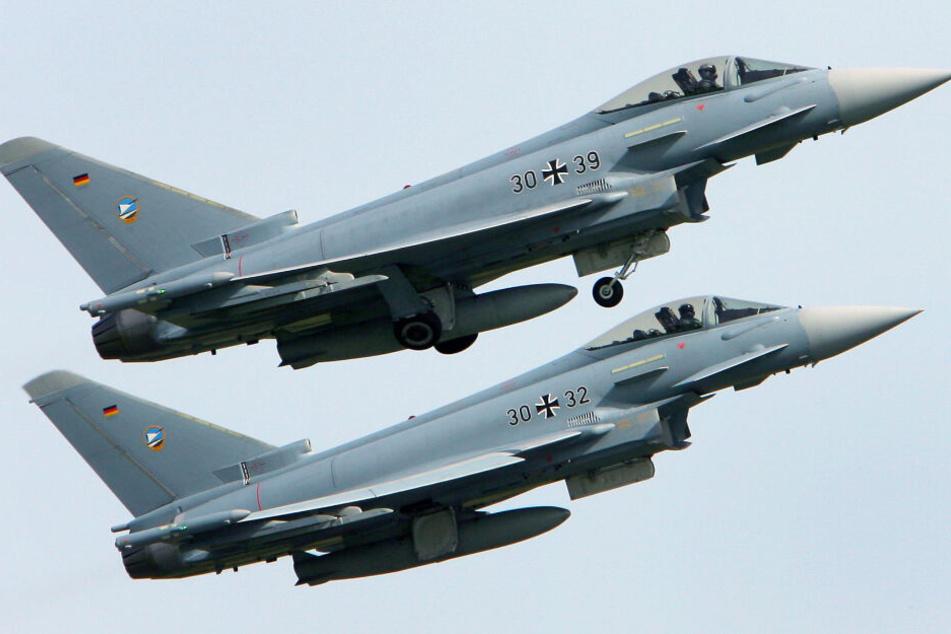 Vier Eurofighter flogen zur Übung im TRA über Grimma. (Symbolbild)
