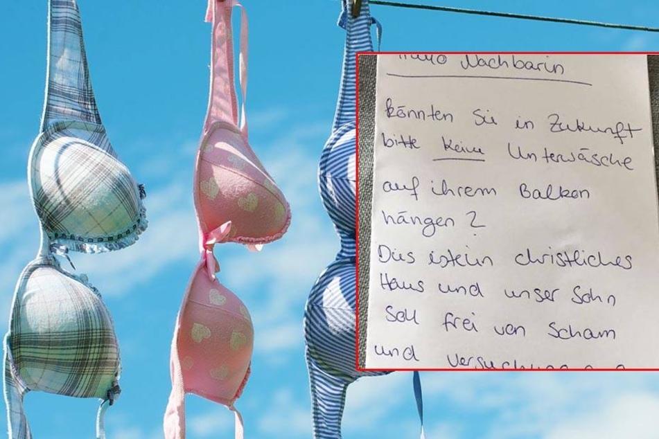 Nachbarin trocknet Unterwäsche auf dem Balkon: Irre Beschwerde!