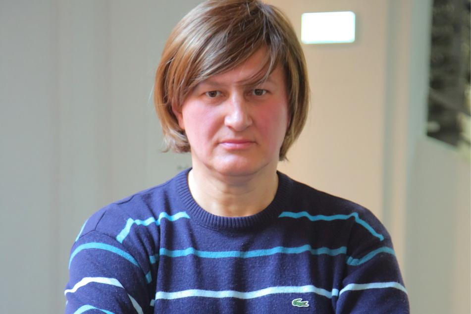 Tanja Heptner (52) erlitt als Wahlhelferin eine Kratzwunde.
