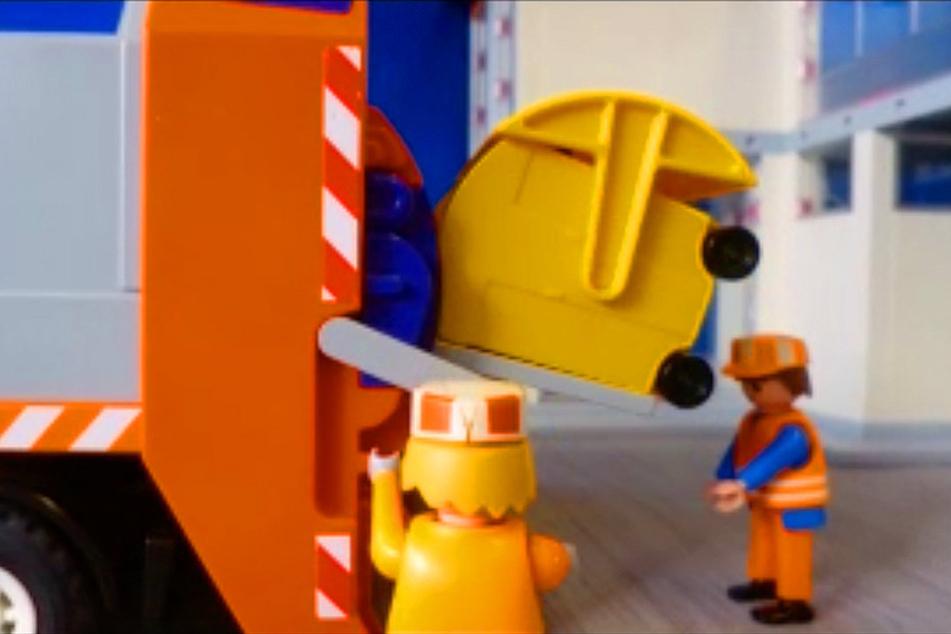 Damit in der Tonne nur das landet, was reingehört, haben Schüler einen Trickfilm gedreht, in dem Mülltrennung erklärt wird.