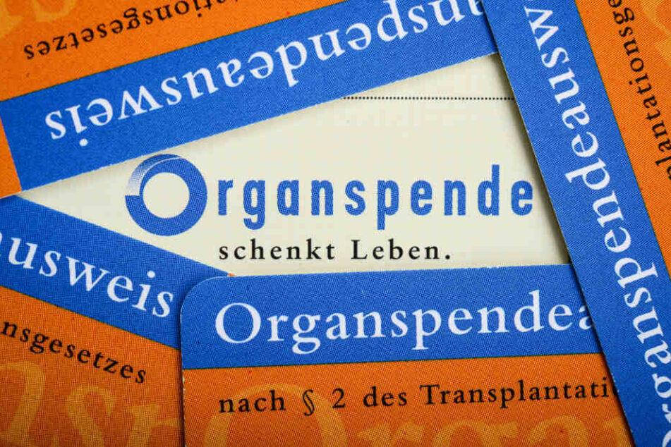 Organspendeausweise im Scheckkartenformat der Bundeszentrale für gesundheitliche Aufklärung (BZgA).