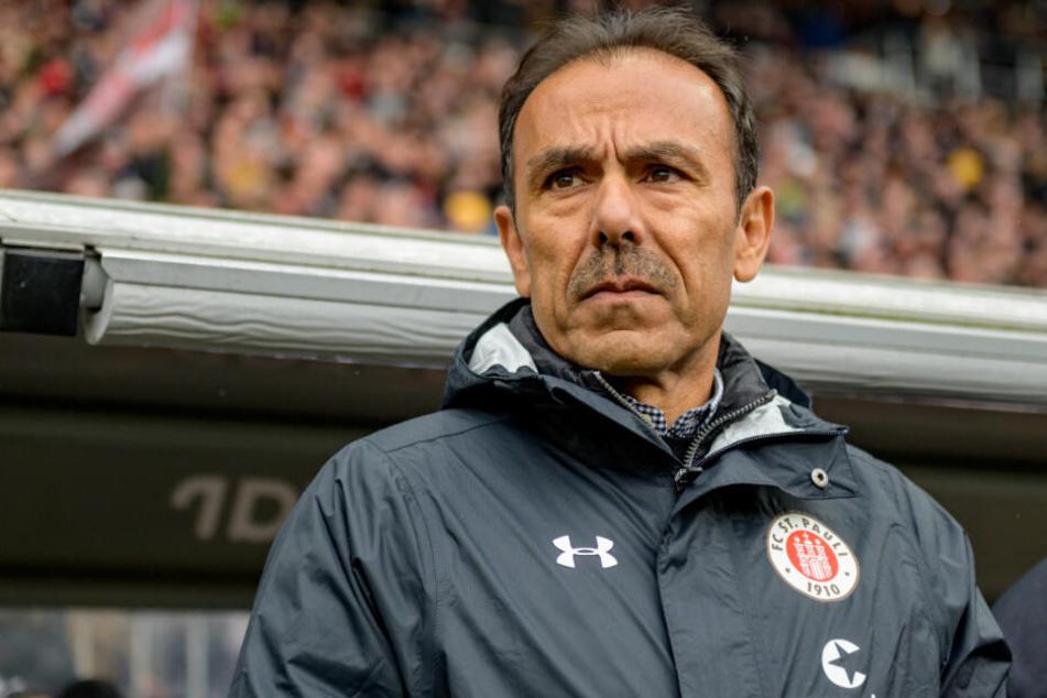 Trainer Jos Luhukay stand zum ersten Mal beim FC St. Pauli an der Seitenlinie.