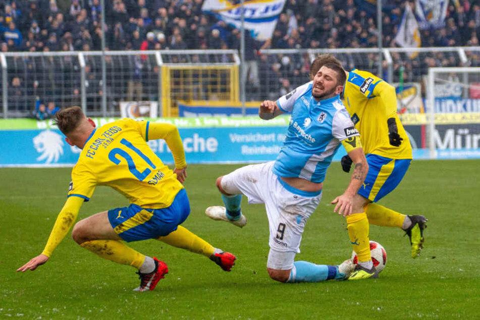 Der TSV 1860 München verliert gegen Carl Zeiss Jena.