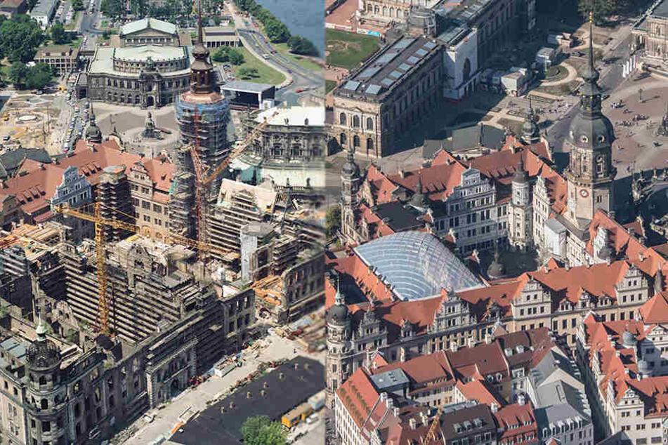 Restaurationsarbeiten im Schloss dauern bis heute an.